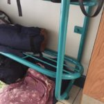 school bag racks